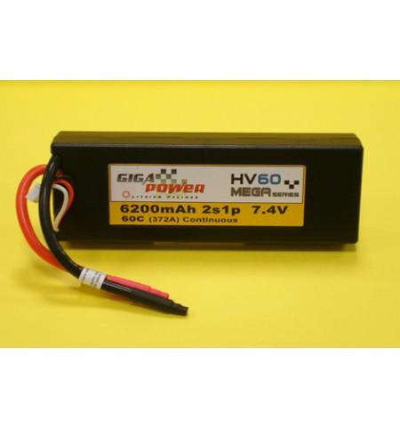 Batteria GigaPower  HV60 7,4 V 6200 mAh 2S